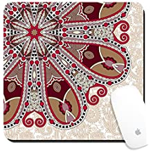 Luxlady Suqare Mousepad 8x8 Inch Mouse Pads/Mat design IMAGE ID: 32864970 floral round pattern in ukrainian oriental ethnic style for your greeting card or invitation t