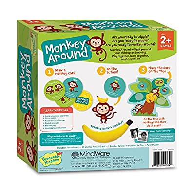 Peaceable Kingdom Monkey Around - The Wiggle & Giggle Game of Movement for 2-Year-Olds: Toys & Games