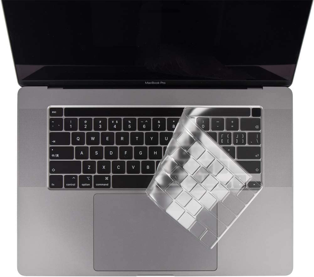 COOSKIN Ultra Thin Keyboard Cover Skin for New MacBook Pro 16 inch 2019 Release with Touch Bar and Touch ID A2141 Keyboard Protector