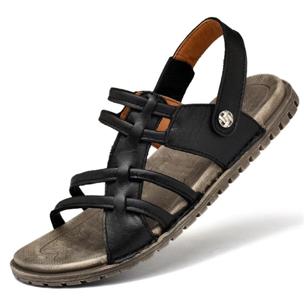 Wagsiyi Hausschuhe Sandalen Herren Outdoor Casual schwarz Beach Schuhe Leichte Atmungsaktive Sandalen (24,0-27,0) cm Strandschuhe Schwarz
