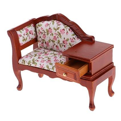 Incredible Homyl 1 12 Vintage Floral Chaise Lounge Chair Furniture Dollhouse Room Decoration Creativecarmelina Interior Chair Design Creativecarmelinacom