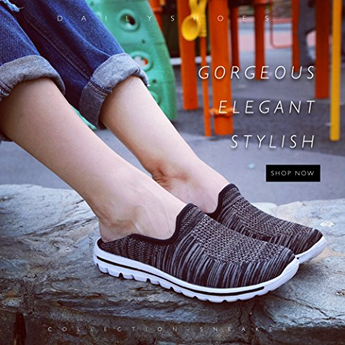 Shoes and Walking Breathable Memory Durable Style Insoles Sneakers Walks For Perfect Mesh Reliable With Traction Womens Fit Black Mesh JOGS Soles Slip On Foam Mesh DailyShoes xB8w0OqW