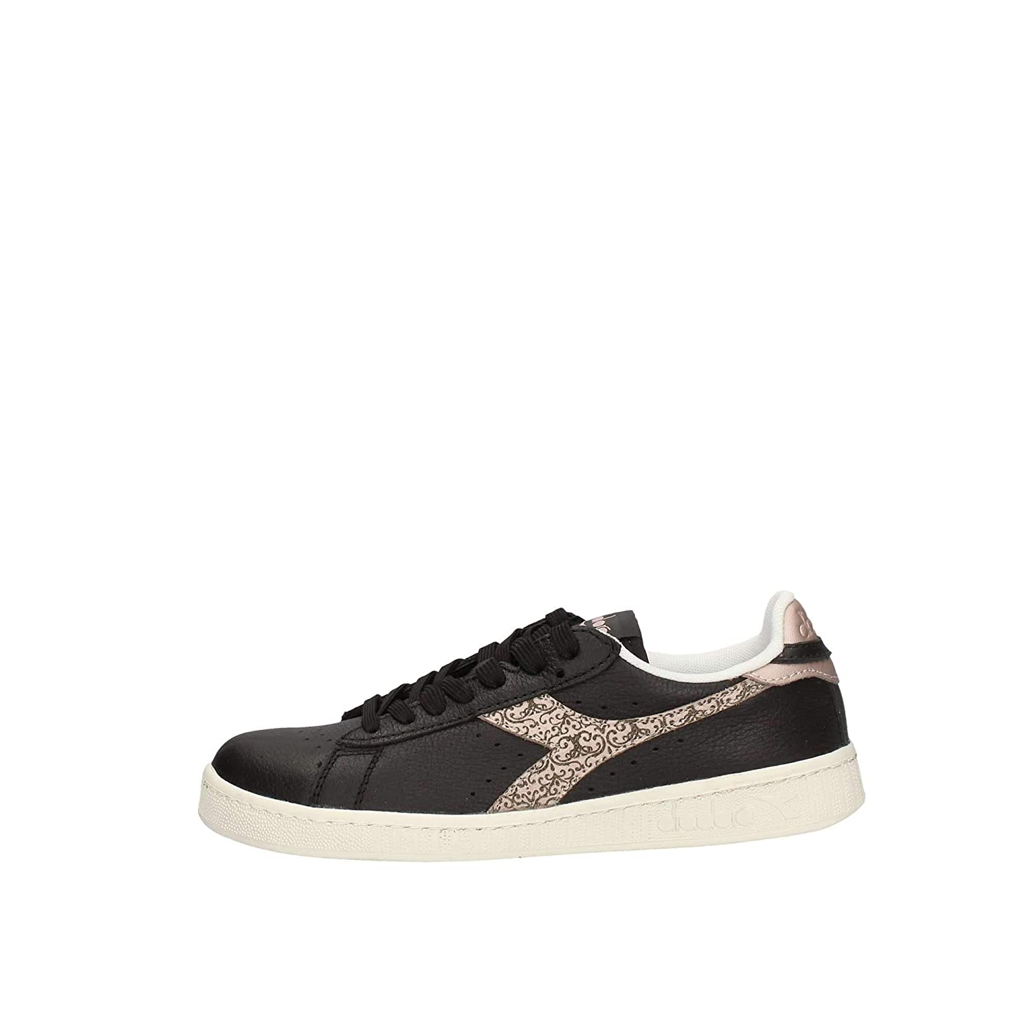 Diadora Game Wn, Zapatillas de Gimnasia para Mujer 40.5 EU|Negro (Black/Golden Rose C7697)