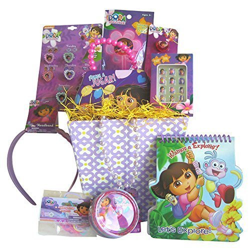 Dora the Explorer Valentine Gift Baskets for Girls, Perfect Valentines Day Gift for Girls 3-8 Years Old