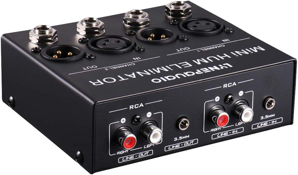 Baoblaze Eliminador de Humos Caja de Cancelación de Ruido de Zumbido Actual Estéreo de Doble Canal Audio