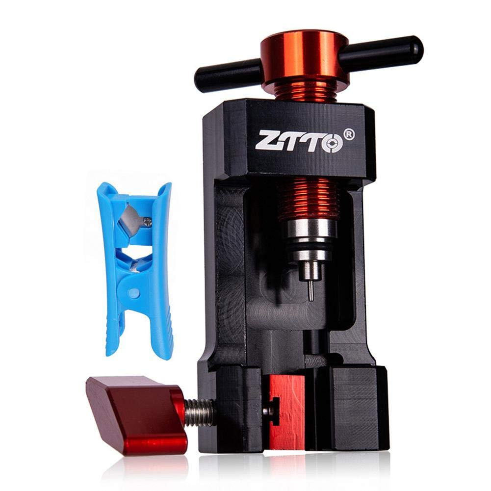 Etatea Brake Oil Hose Connector for Bicycle, Hydraulic Hose Tube Needle with Clip Installation Presser Device Tool