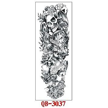 Flor del brazo etiqueta engomada del tatuaje color negro brazo ...