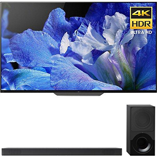 Sony 55-Inch 4K Ultra HD Smart BRAVIA OLED TV 2018 Model (XBR55A8F) with Sony 2.1ch Soundbar with Dolby Atmos