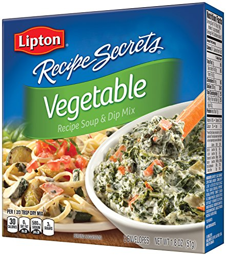 Lipton Recipe Secrets Soup and Dip Mix, Vegetable 1.8 oz (Pack of 6)