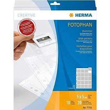 Herma 7701 - Funda para archivar diapositivas (10 hojas), transparente: Amazon.es: Oficina y papelería