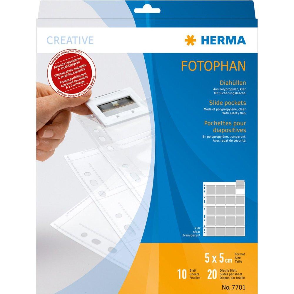Herma 7701 - Funda para archivar diapositivas (10 hojas), transparente product image