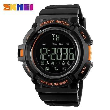 Reloj Inteligente Versión, Btruely Herren SKMEI Smartwatch Android Bluetooth SmartWatch con Cámara/Podómetro/ Monitor de Sueño/Notificación de Whatsapp ...