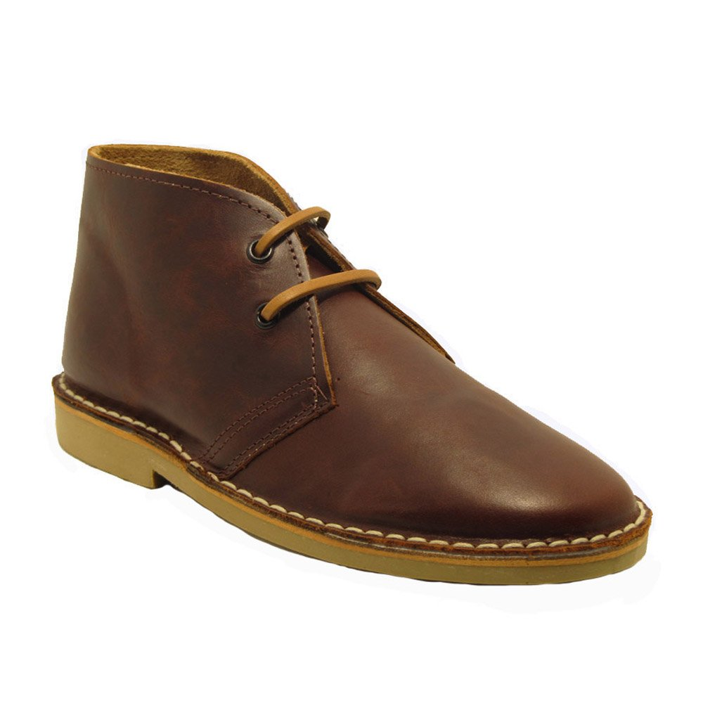 La Auténtica K100FPN - Desert Boot Italian tip Leather, Unisex Adult, Dark Brown napa K100FPNMA