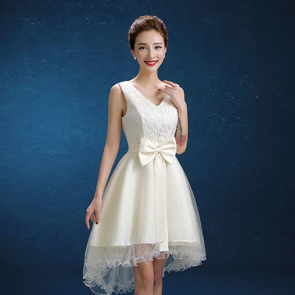 Vestido de Novia de Novia Moderna Vestido de Champán Vestido de Dama de Honor Vestido de Dama de Honor,UN,METRO: Amazon.es: Hogar