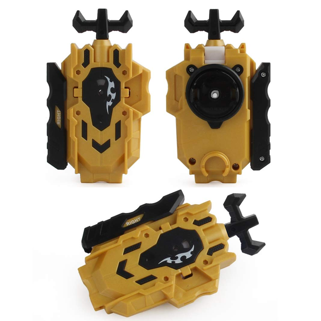Yellow +String Launcher Grip Let it rip with Bey Burst The Third Generation of The Popular Bey Battling Top Franchise Left /& Right Turning Rabicool Battling String Launcher Burst Bey Launcher LR