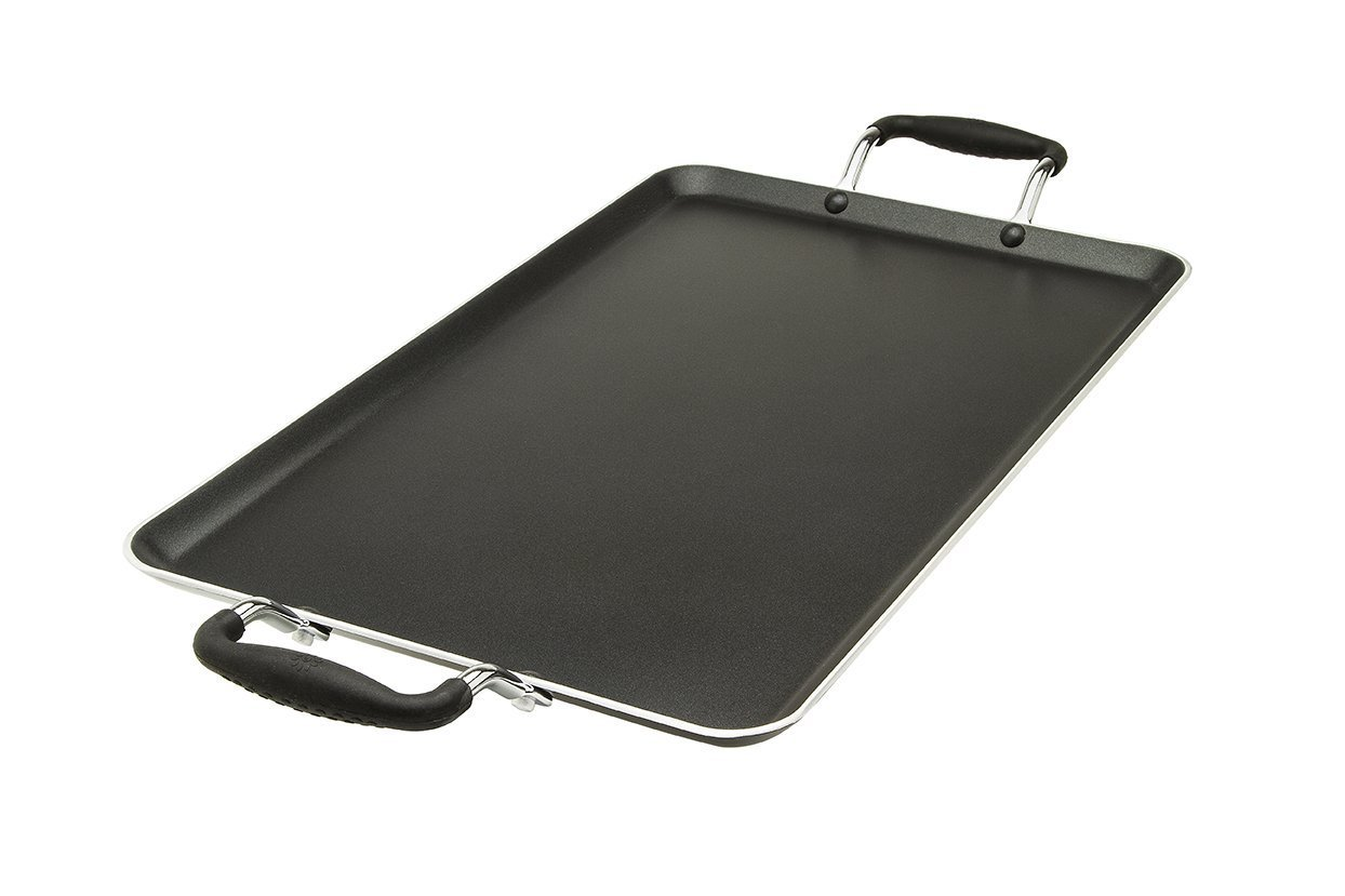 Lodhi's Dishwasher Safe Non-Stick 19'' Double Large Griddle Pan