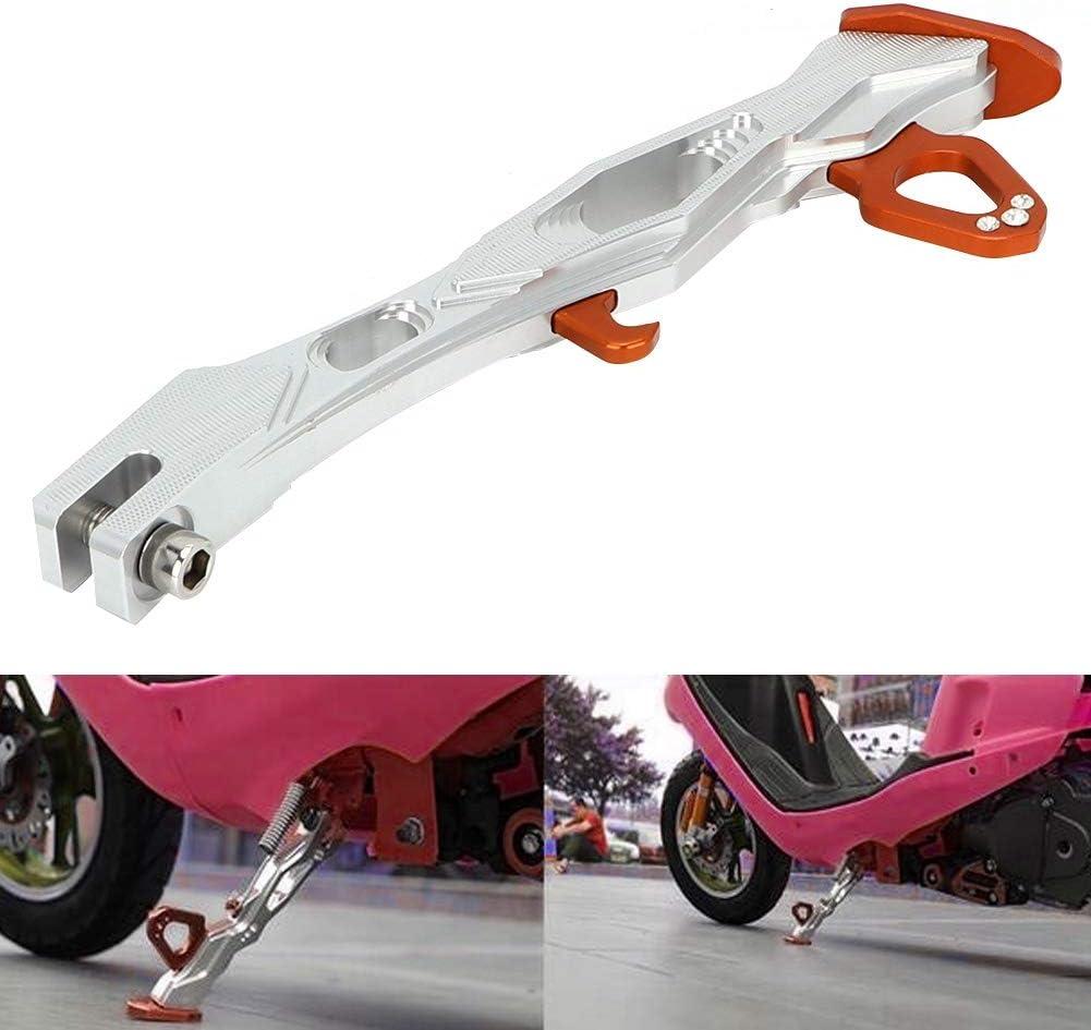 Orange Qiilu-Motorrad-St/änder Aluminiumlegierungs-justierbarer Motorrad-St/änder-Fu/ß-Seitenstand-Stativ-Halter motorrad rangierhilfe seitenst/änder motorrad