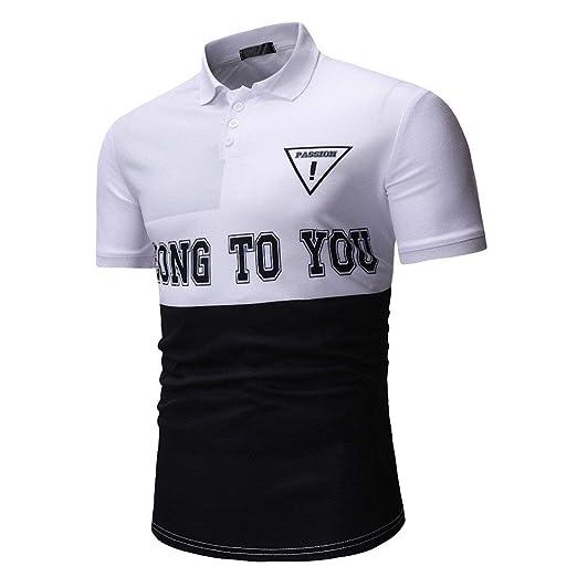 878aa1e7cd6 Dressin Men's T Shirts Mens Buttons Short Sleeve Tops Half Cardigans  Patchwork Color Block Casual Tees