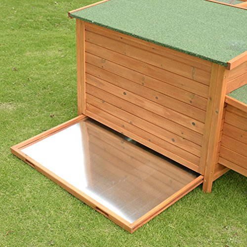 Pawhut Deluxe Wooden Chicken Coop with Backyard Outdoor Run, 87'' by PawHut (Image #4)