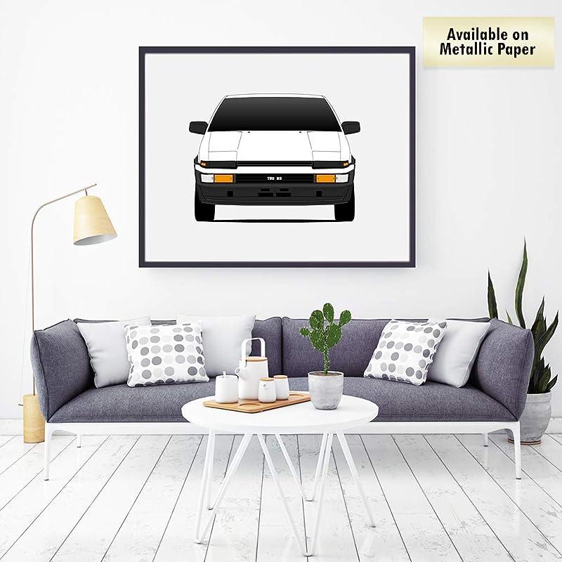 Poster Inspired by Toyota AE86 Trueno Hacki Roku Initial D Poster Print Wall Art Decor Handmade Corolla Levin Sprinter
