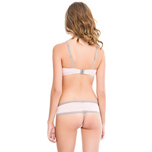 f33654ab85821 women secret Polka Dot Print Push Up Bra with Bows on the Straps and Lace  on the Cups. Cup C