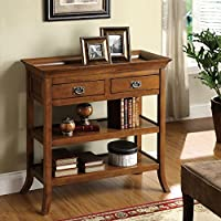Furniture of America Kams Bottom Trays 2-drawer Living Room End Table