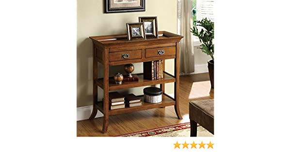 Amazon.com: Furniture Of America Kams Bottom Trays 2 Drawer Living Room End  Table: Kitchen U0026 Dining