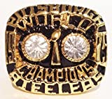 Pittsburgh Steelers 1975 Super Bowl Ring Replica - Franco Harris - Vintage Steelers Football Memorabilia - Men Size 12 Shipped from USA