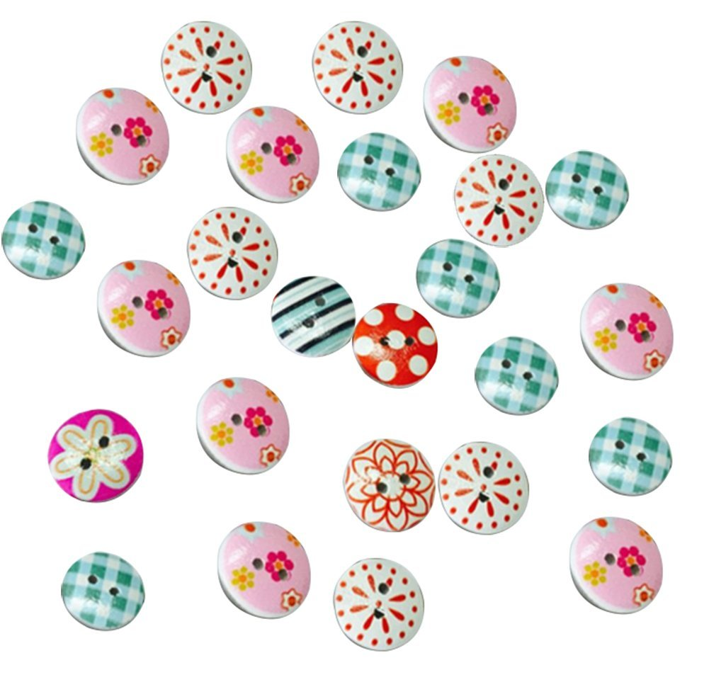 leisial nuovi pulsanti in legno multicolore unisex fibbia decorativa
