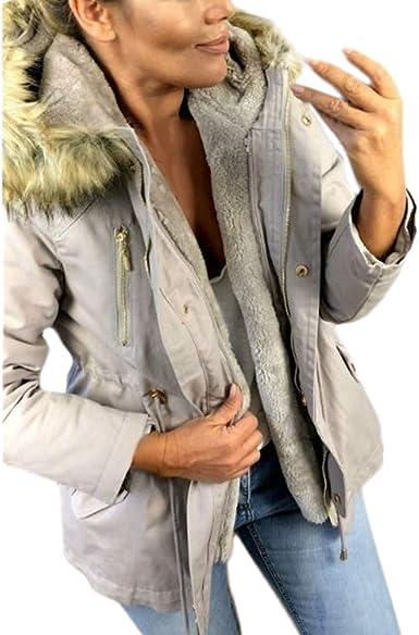 Millenniums Femme Manteau à Capuche en Coton Épais Chaud