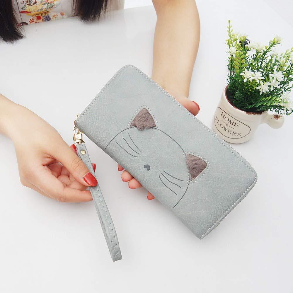 GENGXINLIN財布財布女性のレトロな豪華な猫携帯電話バッグ女性のリストバンド財布女性女性ジッパー、B   B07MW643CM