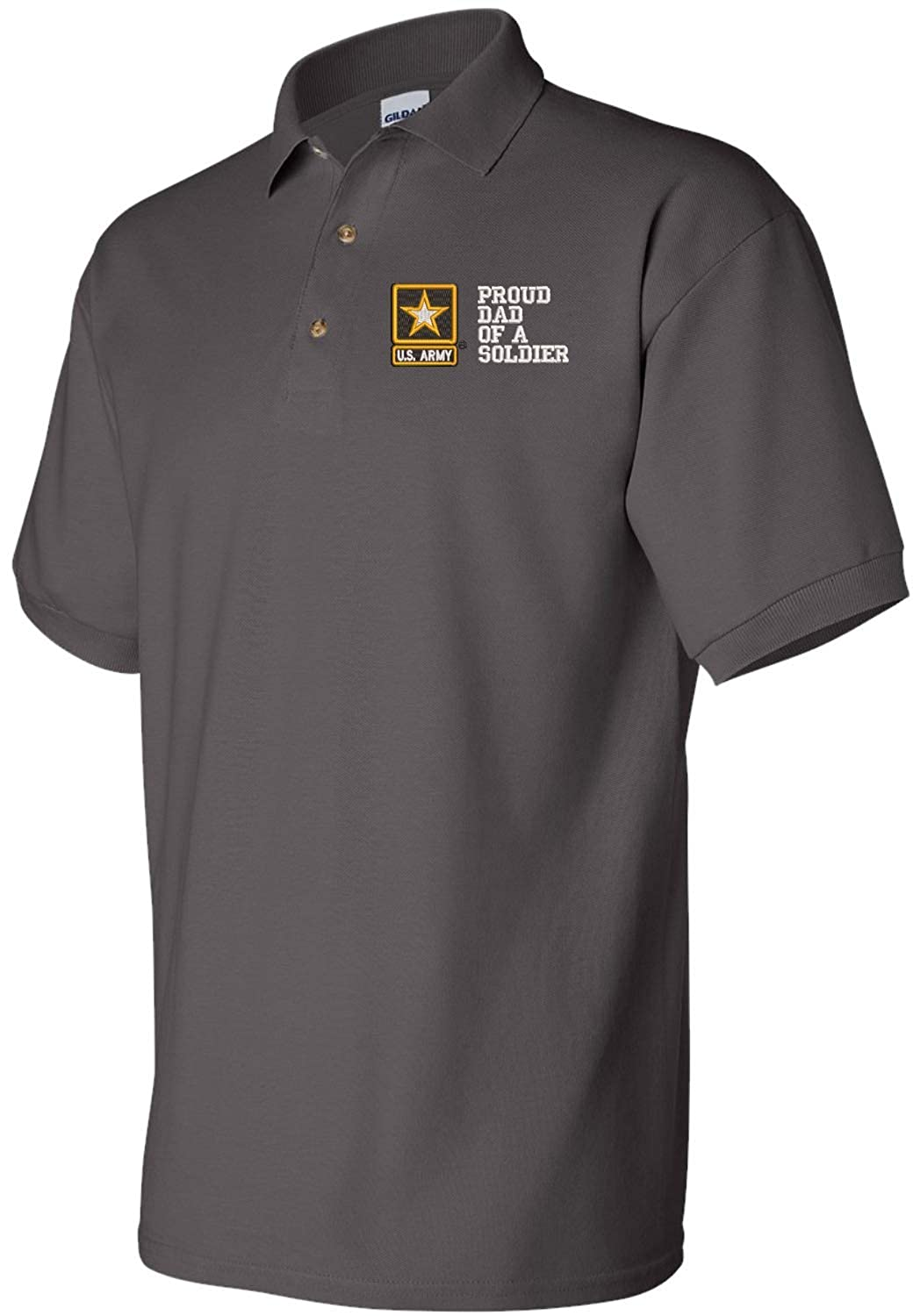 Army Polo Proud Dad of a Soldier U.S
