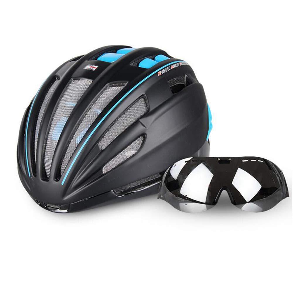 新作モデル 自転車ヘルメット、自転車ヘルメットロードマウンテンバイク安全キャップ調節可能な軽量大人用スポーツヘルメットゴーグル B07PSNTM4V 青 青 青, 帽子の通販専門店 - Bebro -:5ff9d1be --- a0267596.xsph.ru