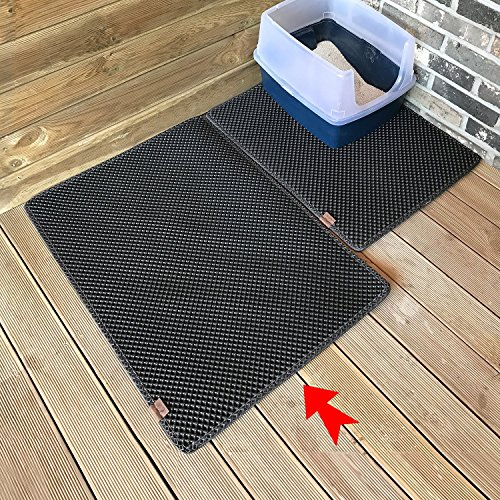 BlackHole Litter Mat Blackhole Cat Litter Mat - Extra-Large Size Rectangular 36'' X 25'' (Dark Gray) by BlackHole Litter Mat (Image #3)