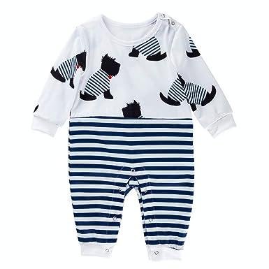 Berimaterry Recién Nacido Pijama Bebés Algodón Mameluco Niñas ...