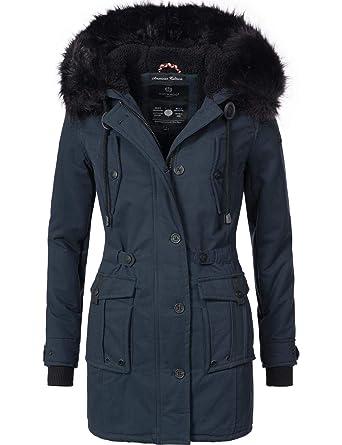 Navahoo Damen Winter Mantel Baumwoll Parka Luluna 7 Farben XS XXL