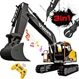RC Excavator 3 in 1 Construction Truck 17 Channel 1/16 Scale Full Functional with 2 Bonus Tools Remote Control Excavator…