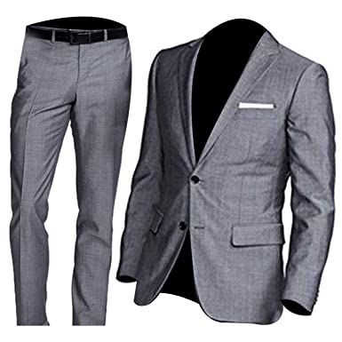 Hamilton Sharkskin - Traje de 2 Piezas, Color Gris - Gris - Medium ...
