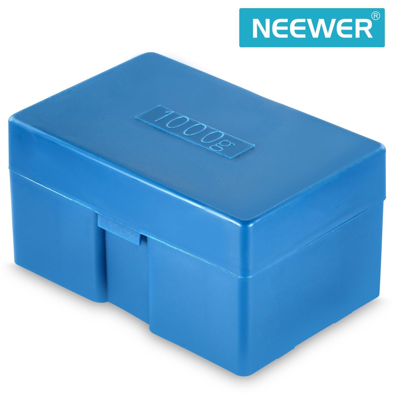 Neewer 8 piezas de 1000 Gramos de Peso de Calibración de Acero Inoxidable (500g 200g 2x100g 50g 20g 20g 10g) con Estuche y Pinzas para Balanza de Joyería ...