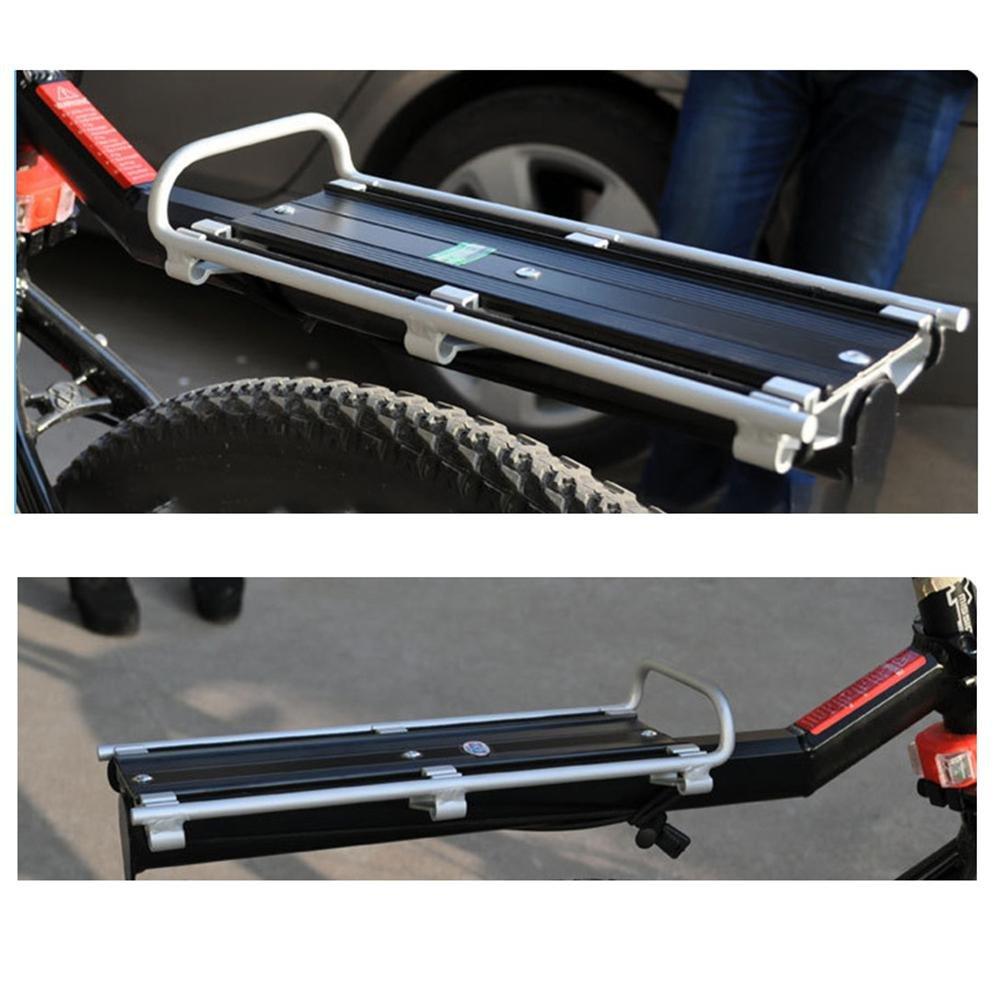 Jushi Bicicletta Portapacchi Alluminio Posteriore flottante ATV Cargo Scaffale Scaffale Lega Saddle Bicicletta Rack