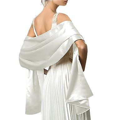 35db59eec0a1 Moichien Femmes Soyeux Longue Doux Soirée Châle Wrap Étole 180 50cm Pour La