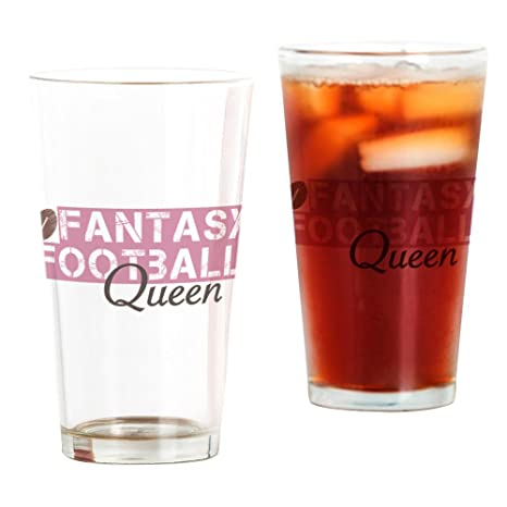 Amazon.com: CafePress Fantasy fútbol – Queen – Vaso de pinta ...