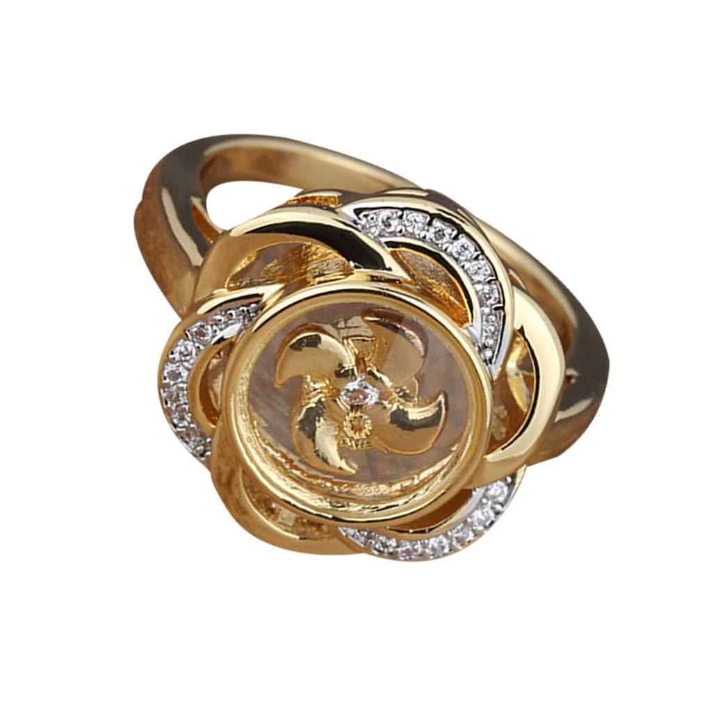 Beaums Rhinstone chapado en oro de los anillos de las ...