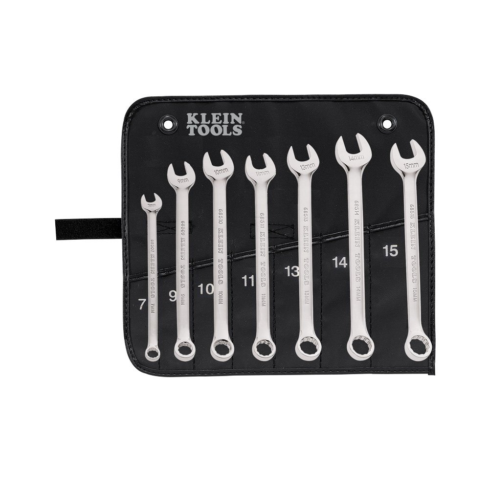 Combination Wrench Set, Metric, 7-Piece Klein Tools 68500