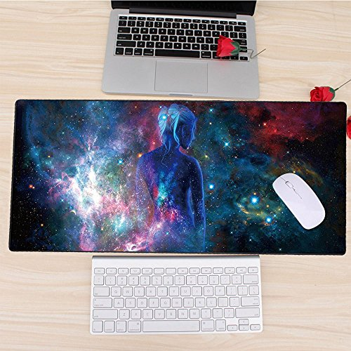 Cmhoo Large Mouse Pad Gaming & Professional Computer Extra Large Mouse Pad / Mat 27.5IN (7030 sky girl) Photo #4