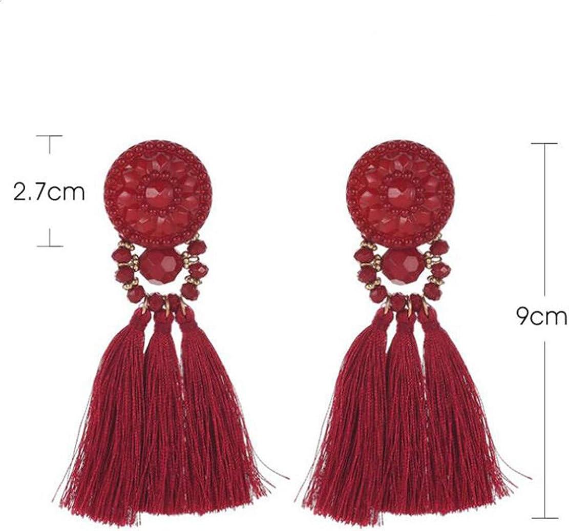 Botreelife Bohemian Long Tassel Earrings Style Ethnique Dangle Earrings Pour Les Femmes