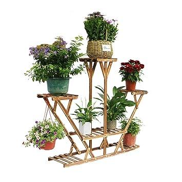 Unho Estanteria Para Macetas Soporte De Madera Para Flores - Estanteria-para-plantas