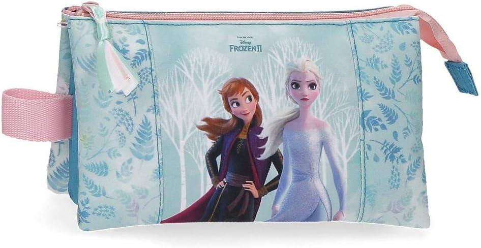 Frozen Estuche Find Your Strenght Tres Compartimentos, 22x12x5 cm, Azul
