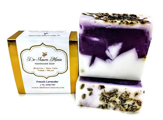 French Lavender Soap, 4oz Handmade Soap Bar, 100% Vegan, Cruelty Free,