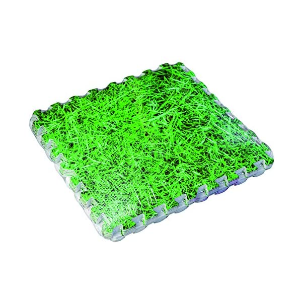 Gre MPF509GR - Protettore di suolo per piscina, 9 pezzi, Imitazione Erba (stampa), 50 x 50 cm, spessore 8 mm 3 spesavip